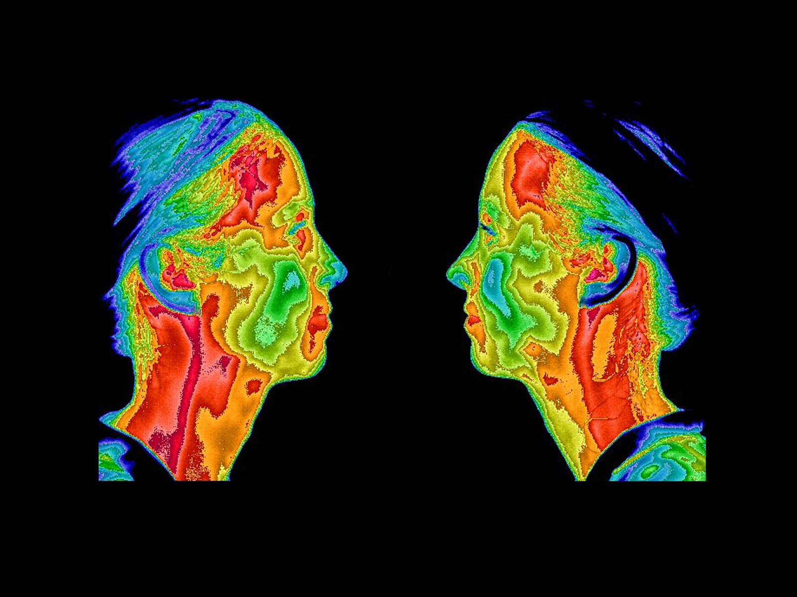 Thermogram of faces